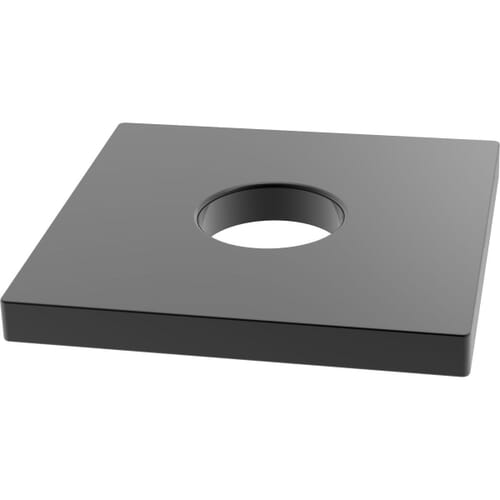 M16 Square Wood and Decking Washers (DIN 436) - Black Stainless Steel (A2) - Black