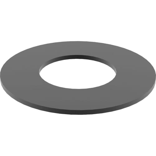 16mm x 22mm x 0.5mm Shim Washers (DIN 988) - Black Stainless Steel (A2)