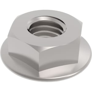 M16 Serrated Flanged Hexagon Nuts (DIN 6923) - Stainless Steel (A2)