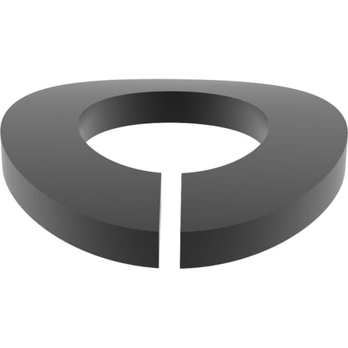 M6 Split Spring Washers (DIN 128A) - Black Marine Stainless Steel (A4)