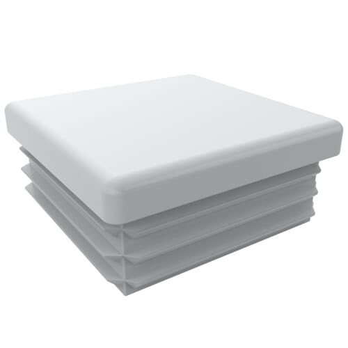 30mm x 12mm x 1.5-2mm Ribbed Square Inserts - Eroded White Low Density Polyethylene