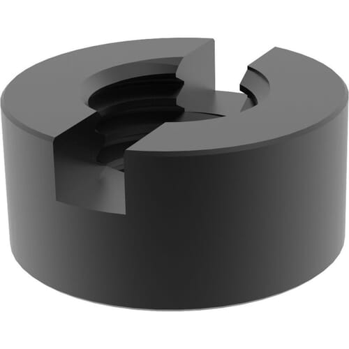 M10 Slotted Round Nuts (DIN 546) - Black Marine Stainless Steel (A4)