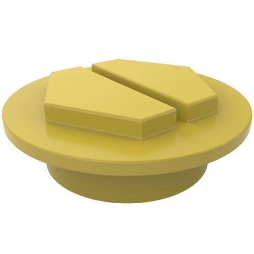 M42 x 2 x 50mm Sealing Slottex Plugs - Yellow Polyamide