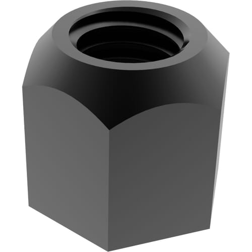 M6 Spherical Seating Hexagon Nuts (DIN 6330) - Black Stainless Steel (A2)