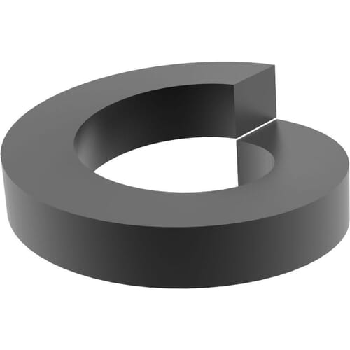 M3 Square Profile Spring Washers (DIN 7980) - Black Marine Stainless Steel (A4)