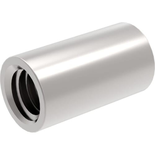 M8 x 35mm Cylindrical Connector Nuts - Stainless Steel (A2)