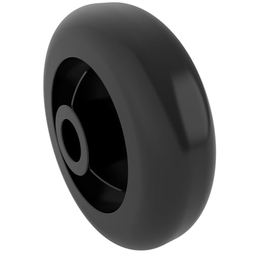 10mm x 35mm Thermoplastic Wheels - Black Thermoplastic