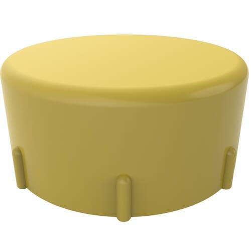 M12 x 1.5 x 10.5mm Threaded Protection Caps - Short - Yellow High Density Polyethylene