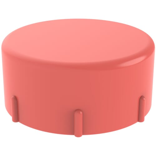 3/8-24 x 0.433 Inch Threaded Protection Caps - Red Low Density Polyethylene