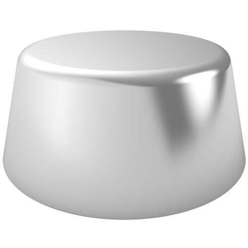 6.5mm High Profile Unicaps - Silver Polypropylene