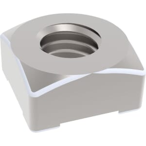 M8 Square Weld Nuts (DIN 928) - Stainless Steel (A2)