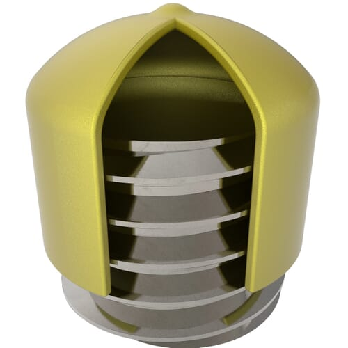 5.9mm x 13mm Yellow Flexicaps - Yellow PVC