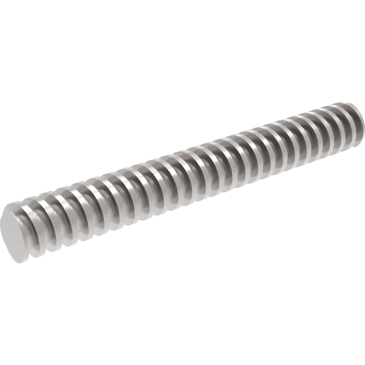 TR24x5 (24mm x 5mm Lead) x 230mm Trapezoidal Lead Screws - 316 Stainless Steel