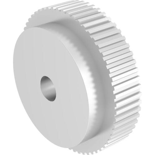 60 Teeth x 25mm Belt Width, AT10 Type Precision Timing Pulleys - 40AT10/60-0