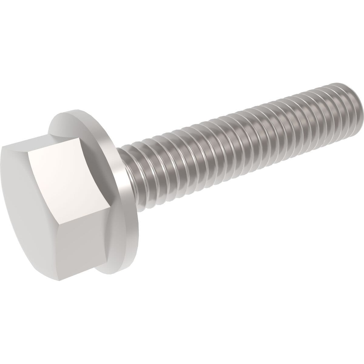 M10 x 20mm Flanged Hexagon Bolts (DIN 6921) - Stainless Steel (A2)