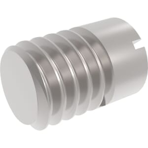 M4 x 10mm Slotted Head Part Threaded Set / Grub Screws (DIN 427) - A1 Stainless Steel
