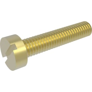 M5 x 12mm Cheese Head Screws (DIN 84) - Brass