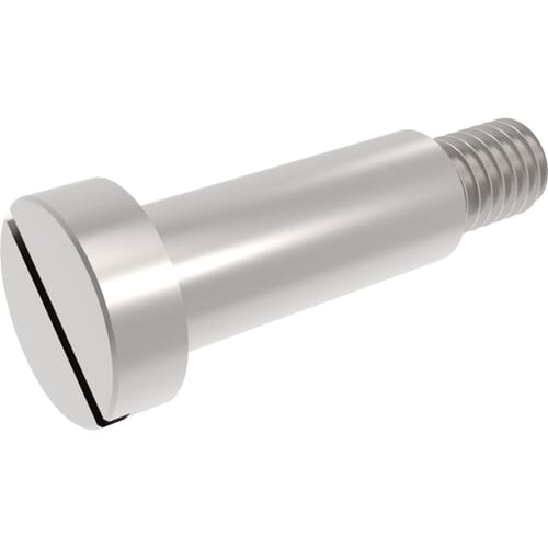 Low Head Slotted Shoulder Screws
