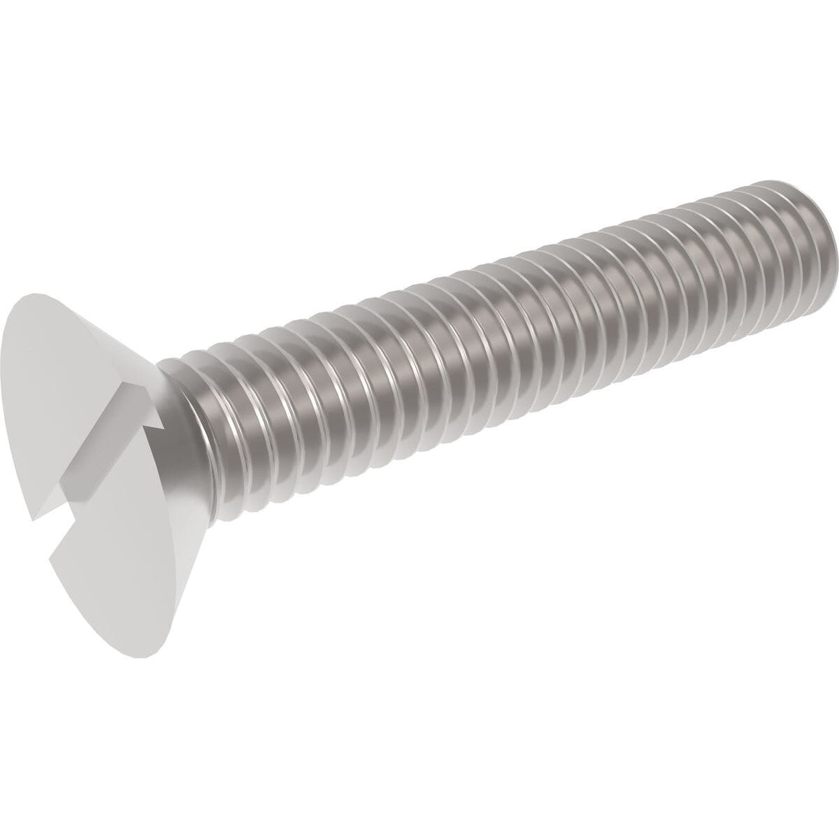 M5 x 70mm Slotted Countersunk Screws (DIN 963) - Stainless Steel (A2)