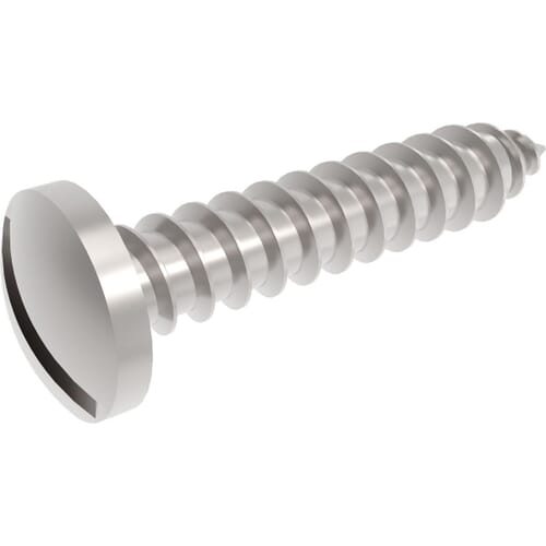 Slotted Self Tapping Pan Screws - Stainless Steel (A2)