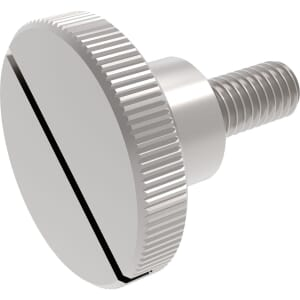 M4 x 12mm Slotted Thumb Screws (DIN 465) - A1 Stainless Steel