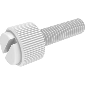 M5 x 40mm Reduced Diameter Slotted Thumb Screws - Nylon