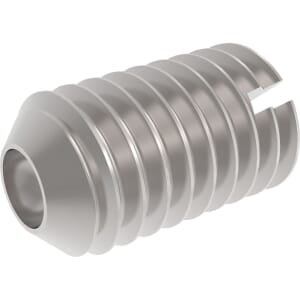 M6 x 16mm Slotted Head Cup Point Set / Grub Screws (DIN 438) - Stainless Steel (A2)