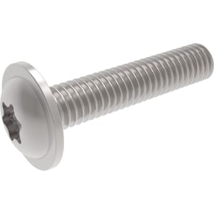 M10 x 40mm Torx Flanged Button Scews (ISO 7380-2) - Marine Stainless Steel (A4)