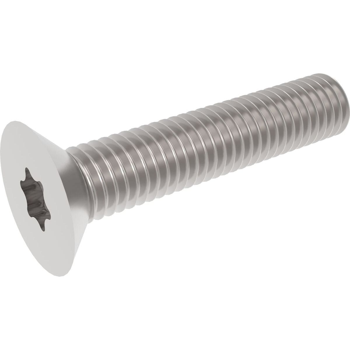M6 x 80mm Torx Countersunk Screws (ISO 14581) - Stainless Steel (A2)