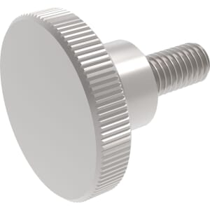 M8 x 30mm Knurled Thumb Screws (DIN 464) - A1 Stainless Steel