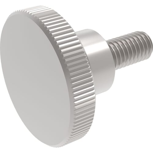 M5 x 8mm Knurled Thumb Screws (DIN 464) - A1 Stainless Steel