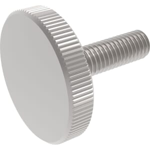 M4 x 16mm Knurled Thin Thumb Screws (DIN 653) - A1 Stainless Steel