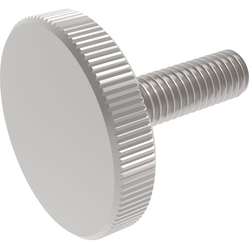 M3 x 12mm Knurled Thin Thumb Screws (DIN 653) - A1 Stainless Steel
