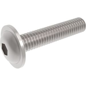 M6 x 10mm Socket Flanged Button Screws (ISO 7380-2) - Stainless Steel (A2)