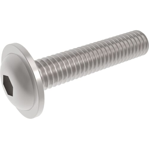 M4 x 8mm Socket Flanged Button Screws (ISO 7380-2) - Stainless Steel (A2)