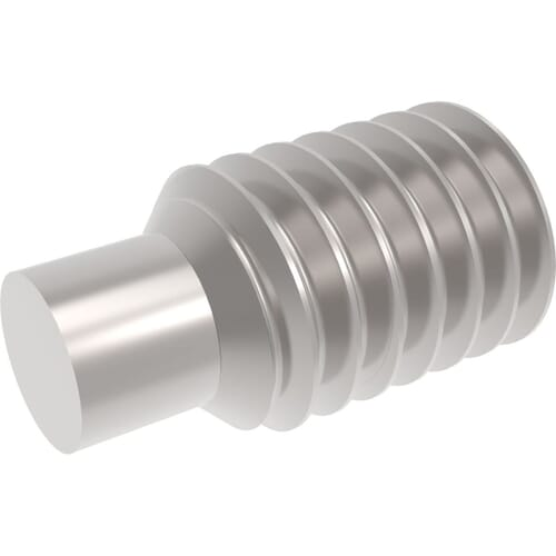 M8 x 30mm Dog Point Set / Grub Screws (DIN 915) - Marine Stainless Steel (A4)