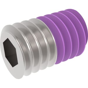 M6 x 10mm Flat Point Set / Grub Screws (DIN 913) - Thread Locking Marine Stainless Steel (A4)