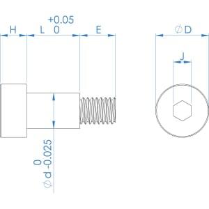 M3 (4mm) x 10mm AMPG Socket Shoulder Screws - A2 Stainless Steel