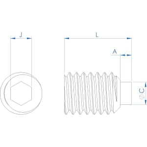 M3 x 4mm Nylon Tip Set Screws / Grub Screws - Stainless Steel / Nylon Insert