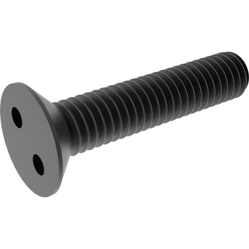 M5 x 25mm Security 2Hole / Snake Eye Countersunk Screws - Black Stainless Steel (A2)