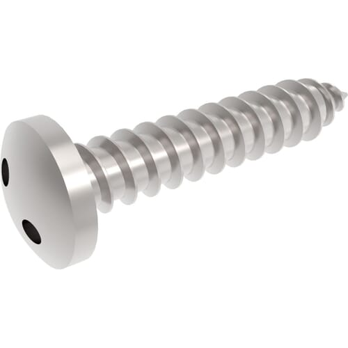 No.8 (4.2mm) x 1/2 inch (12.7mm) Self Tapping Security 2Hole - Snake Eye Pan Head Screws - Stainless Steel (A2)