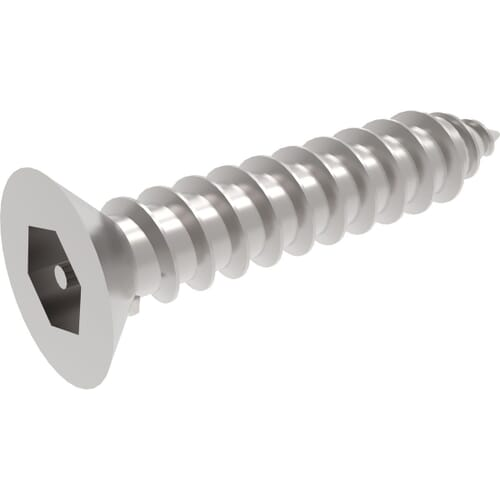 Self Tapping Security Socket Countersunk Screws - Stainless Steel (A2)