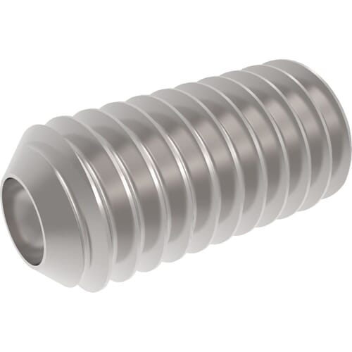 M4 x 10mm Cup Point Set / Grub Screws (DIN 916) - Marine Stainless Steel (A4)