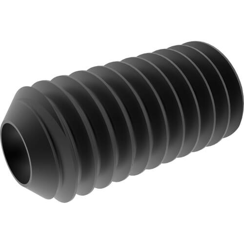 M3 x 8mm Cup Point Set / Grub Screws (DIN 916) - Black Marine Stainless Steel (A4)