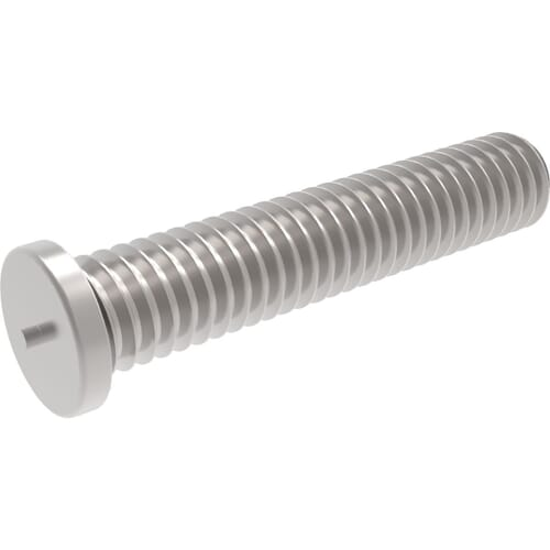 M8 x 25mm Threaded Weld Studs (ISO 13918) - Stainless Steel (A2)