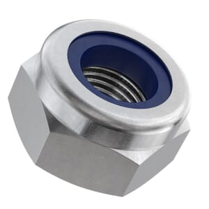 M10 High Nylon Locking Nuts (DIN 982) - Marine Stainless Steel (A4)