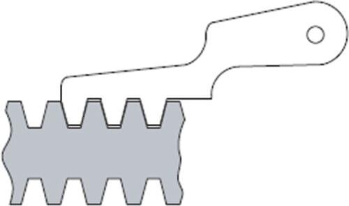 1 TPI - 12 TPI ACME Thread Pitch Leaf Gauges (Insize 4824)